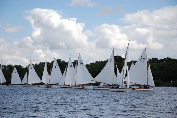 Large sailing fleet