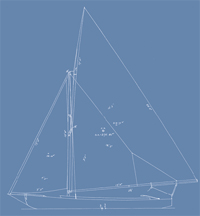 Out line drawing of White Boat